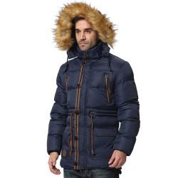 Állítható derekú, elegáns téli kabát férfiaknak