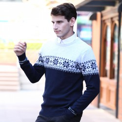 Férfi pamut pulóver