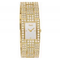 D&G Dolce&Gabbana női Quartz óra karóra val gyöngyház számlap kijelző és arany nemesacél szíj DW0007 D&G