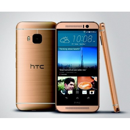 HTC One M9 32GB gold on silver, gold on gold