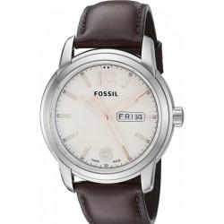 Fossil FSW4004 Swiss FS-5 series Quartz három-kézi dátumbarna bőr óra karóra