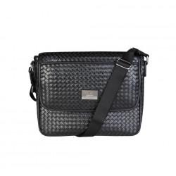 1969 by Versace férfi táska táska GRD-YCA072-2_WOVEN_fekete /kac