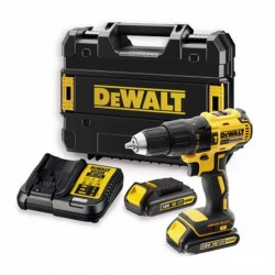 Dewalt DCD778S2K 18V XR ütvefúró-csavarozó készlet, 2 akkuval, töltővel, 100 db-os tartozék készlettel+koffer