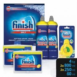 Finish additív csomag (4 kg gépi regeneráló só, 2x800 ml, géptisztító 2x250 ml, citromos illatosító, 60ml)