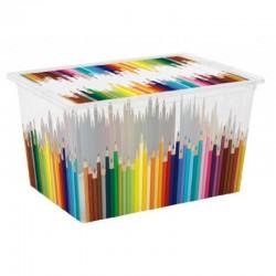 UnicSpot C-Box Style tárolódoboz, ceruzás, XL