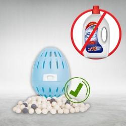 Mosószer helyett használjon vegyszermentes mosótojást, 210 mosáshoz (Friss pamut illat)