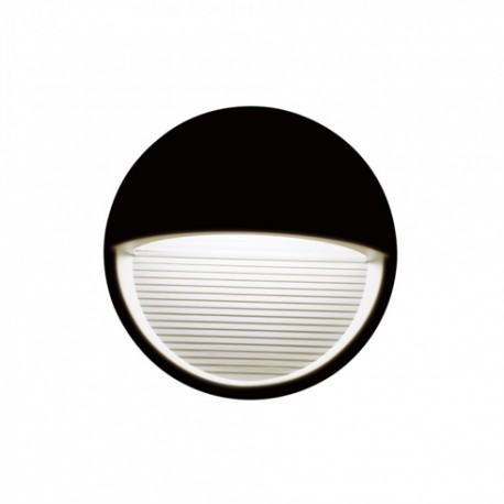 V-TAC StepLight-L LED lépcsővilágító - kör, fekete (3W) természetes fehér