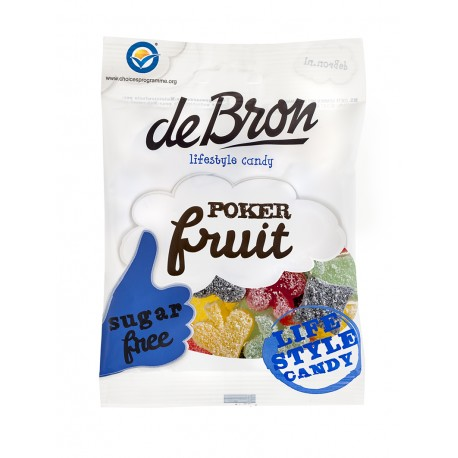 "DeBron glutén- és cukormentes ""POKERFRUIT"" gumicukor 90g (12 db)"