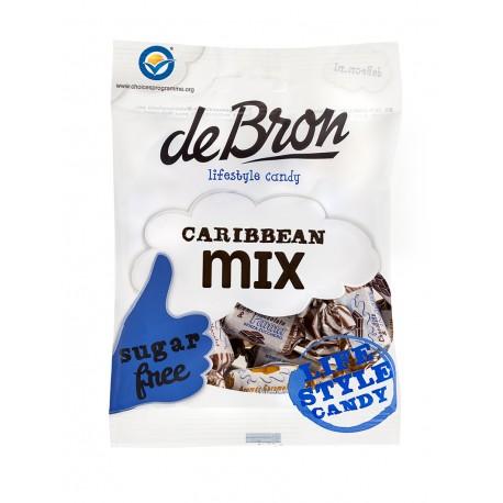 DeBron cukor-és gluténmentes KARIBI-MIX karamella válogatás 90 g (12 db)